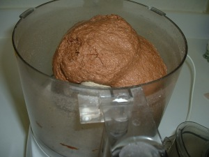 bread dough in food processor