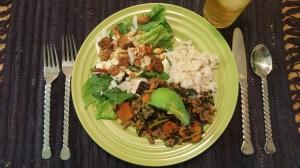 Honeyed Lime Kale with Ground Turkey