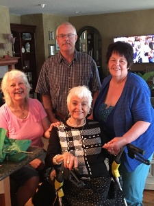 Me, my brother Paul, mother Pat, sister Maureen
