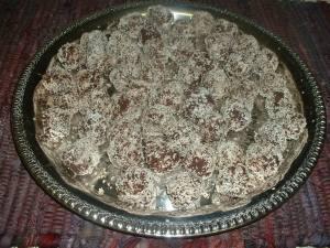 Bolitos de chocolat y coco