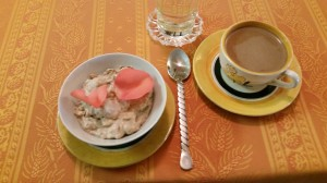 Rosee-a medieval dish flavored with rose petals