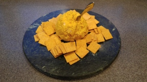 curry/chicken/cheese ball
